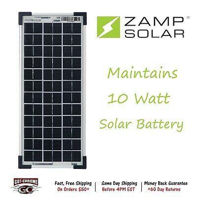 Sponsored Ebay Zs 10 Ppk Zamp Solar 10 Watt Solar Battery Monitor With Images Solar Battery Solar Kit Solar