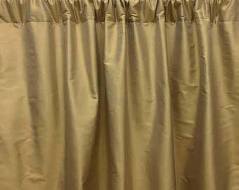 Gold Silk Curtains Dupioni Silk Rod Pocket Golden Beige Silk