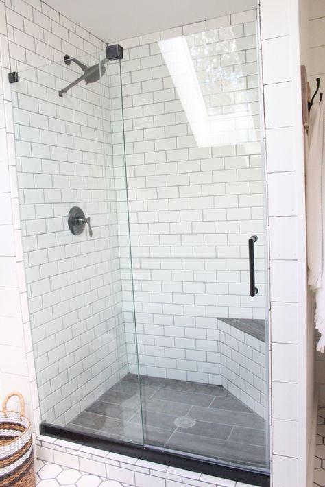 Subway Tile Shower Farmhouse Shower White Subway Tile Shower Shower Floor Tile