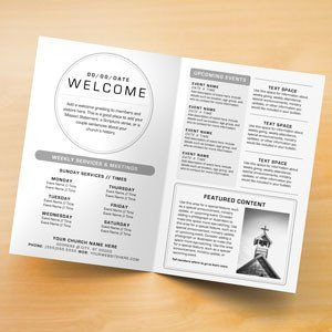 Image Result For Church Bulletin Templates For Pages Booklet