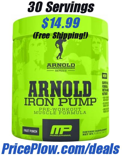Deal Or No Deal Https Www Priceplow Com Deals We Have Muscle Pharm S Arnold Schwarzenegger Iron Pump For Pump Pre Workout Sports Nutrition Muscle Pharm
