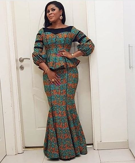 15 Different Styles of Native Skirt and Blouse Ankara to Rock This Year - DeZango FacebookTwitterGoogle+WhatsAppAddThis
