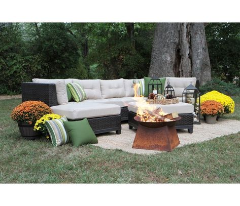 Madison Avenue Patio Sectional With Sunbrella Cushions With