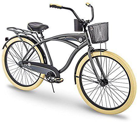 Amazon Com Huffy Cruiser Bike Mens Holbrook 26 Inch Charcoal Green Sports Outdoors Cruiser Bike Beach Cruiser Bike Bicycle