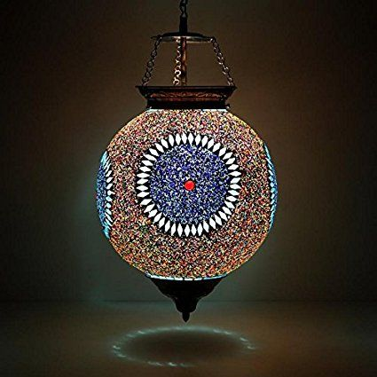 Beads And Crystal Decorated Mosaic Light Hanging Lights Light Mosaic