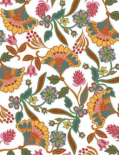 Fan Flower 180717 Katja Ollendorff Designs Printing On Fabric