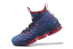 the latest 8d8b5 c18e1 Mens Nike LeBron 15 New Heights Dark Atomic Teal Team Red Muted Bronze Ale  Brown 897648 300 Basketball Shoes
