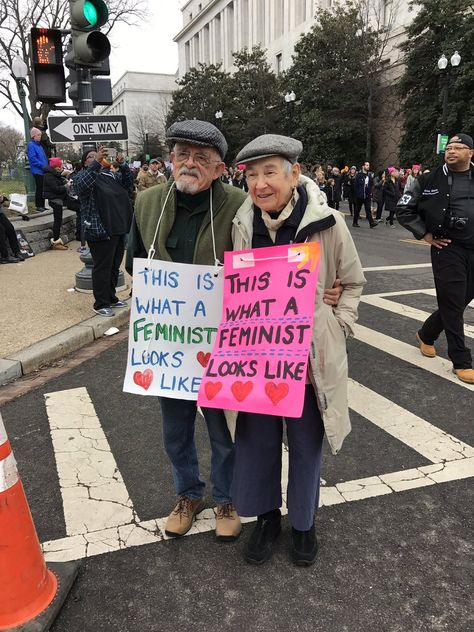 The sign game is strong at the Women's March