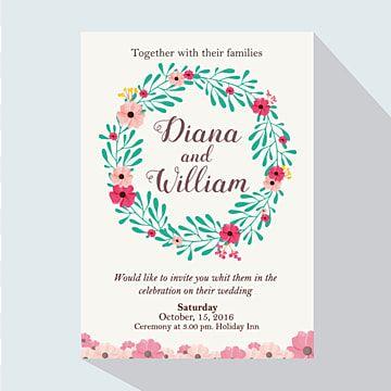 دعوة زفاف مع إكليل الزفاف الملونة Colorful Wedding Invitations Green Wedding Invitations Floral Wedding Invitation Card