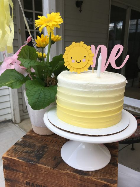 All the things a year summer birthday should be! Simple First Birthday, 1st Birthday Party For Girls, 1st Birthday Cakes, Girl Birthday Themes, Summer Birthday, 1st Year Birthday, Birthday Banners, Farm Birthday, Birthday Photos