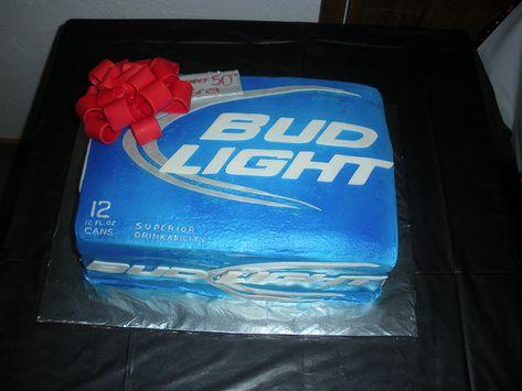 Case of Bud light cake by kiraashley, via Flickr