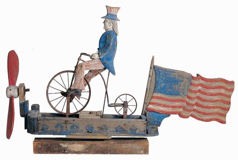 Artist unidentified  Probably New York State  c. 1880–1920  Paint on wood with metal  37 x 55 1/2 x 11 in.  American Folk Art Museum, bequest of Dorothea and Leo Rabkin, 2008.6.1  ...The patriotic figure of Uncle Sam is based on an actual man, Samuel Wilson, of Troy, New York, who won a government contract to supply meat to troops during the War of 1812.