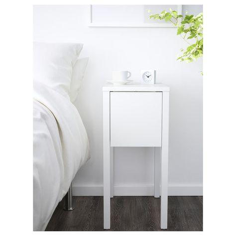 Nordli Chevet Blanc 11 3 4x19 5 8 30x50 Cm Table De Chevet Blanche Table De Chevet Ikea Et Chevet Blanc