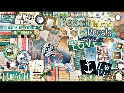 (3170) Decals Codes Beach  Island Themed   Decals Ids   Bloxburg ROBLOX - YouTube
