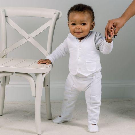 cfce7f647c160 Boys Christening Outfit 'Elijah'   Newborn White Baptism Suit ...