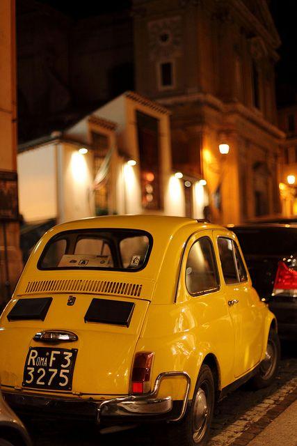 #Fiat500 & #Rome.