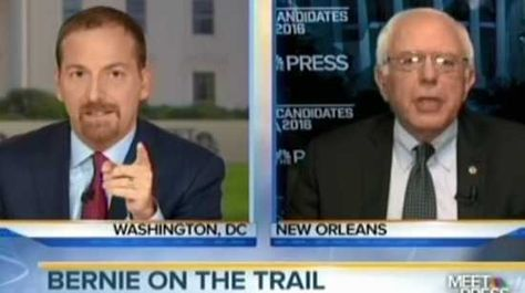 Bernie Sanders did not allow Chuck Todd to spin his false narratives