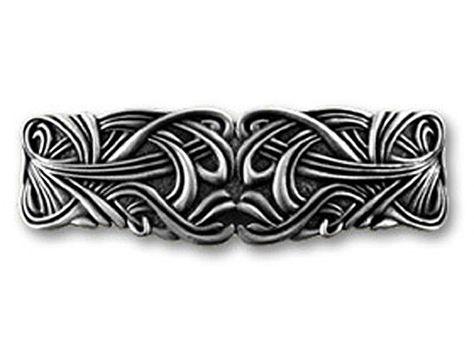 Haarspange, Haarclip, Patentspange, Barette, Clip, Zinn, Keltisch, Celtic, Kelti