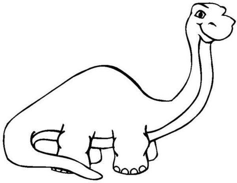 Long Neck Dinosaur Coloring Pages For Kids Jpg 600 464