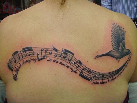 I love this song.. But if I ever committed to a tattoo I'm sure I would never commit to one as big as this but I like it..