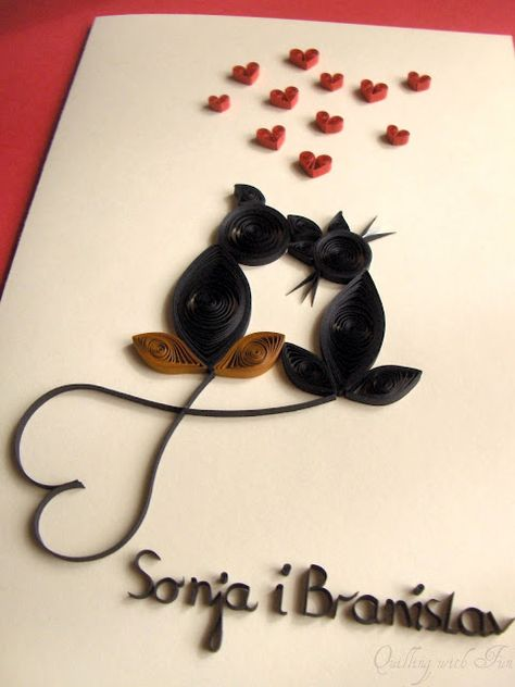 Quilling with Fun: Happy Anniversary Card