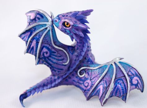 Little Dragon cute lavender purple oriental by DemiurgusDreams, $70.00