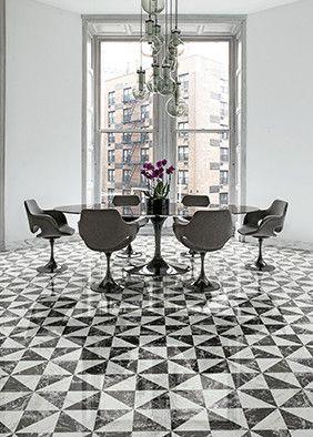 Disponible Showroom David B Carrelage Graphique Noir Et Blanc