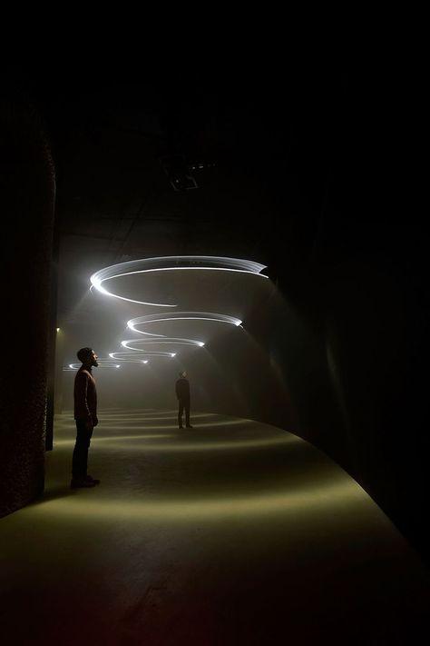 united visual artists illuminates the barbican with momentum