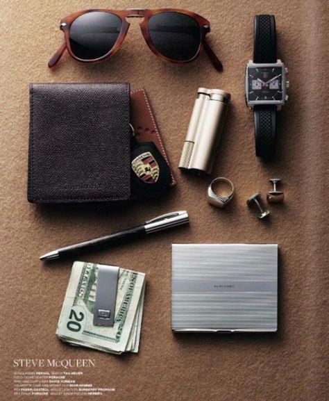 Everyday Carry - EDC - Men's accessories:  Steve McQeen's EDC http://ift.tt/1zMVztJ