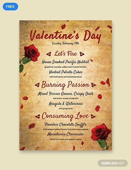 Free Valentine S Day Menu Template Word Doc Psd Apple Mac Pages Publisher Outlook Menu Template Menu Template Word Coffee Menu