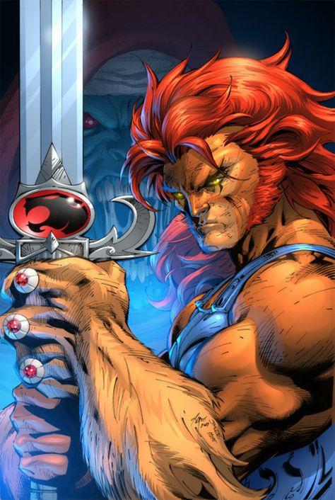 Lion-O, ThunderCats. Art by legendary comic artist Jim Lee. Anime Comics, Comics Und Cartoons, Cartoon Kunst, Comic Kunst, Cartoon Art, Comic Book Characters, Comic Character, Comic Books Art, Jim Lee Art
