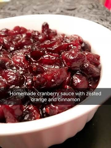 Cranberry Sauce Made With Dried Cranberries Recipe Cranberry Sauce Homemade Dried Cranberries Sauce