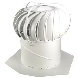 Whirlybird 14 In White Aluminum Externally Braced Wind Turbine Beb14w In 2020 Wind Turbine Turbine Home Depot