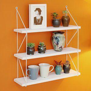Pin By Josh Garrett On House Tiered Display Shelves Colorful Apartment Decor Wall Racks