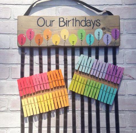 List Of Pinterest Geburtstagskalender Kindergarten Regenbogen