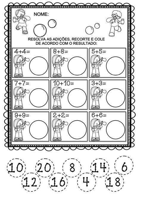 Freedoublenumbers Page 006 Jpg 1131 1600 Fichas De Exercicios De Matematica Atividades De Alfabetizacao Matematica Atividades