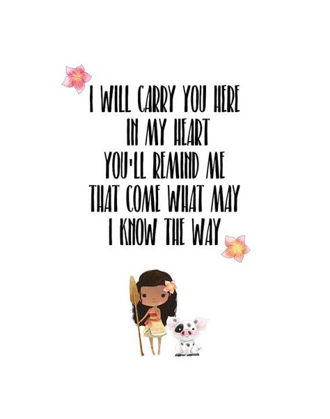 I Know The Way  Moana quote Instant Download Printable