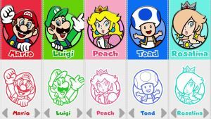Super Mario 3d World Character Selection By Rosalina Luma Super Mario 3d Mario And Luigi Super Mario