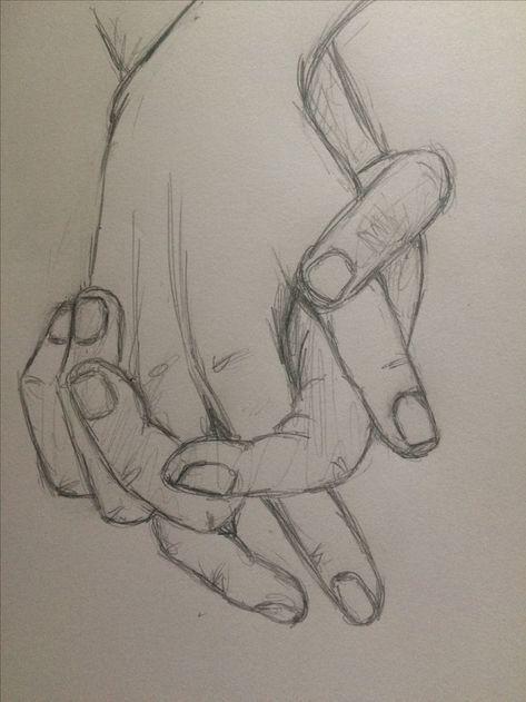 Bleistiftzeichnung  Übungsskizze Hand in Hand 4  pinkishcoconut  #Hands     Bleistiftzeichnung