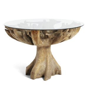 Teak Root Dining Table In 2020 Circular Dining Table Round Wood Dining Table Dining Table