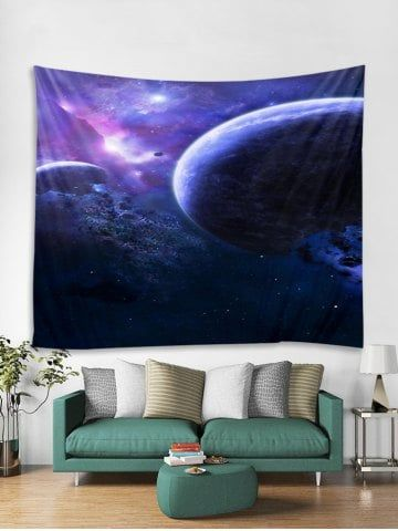 Destroyed Planet Print Tapestry Wall Hanging Art Decoration Wall