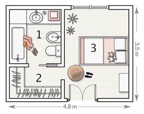 Letto Singolo Dimensioni Minime.Piu Di 100 Idee Per Realizzare Una Cabina Armadio A Casa Tua