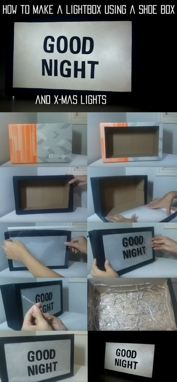 Click to see the video! Lightbox. How to make a lightbox. DIY.