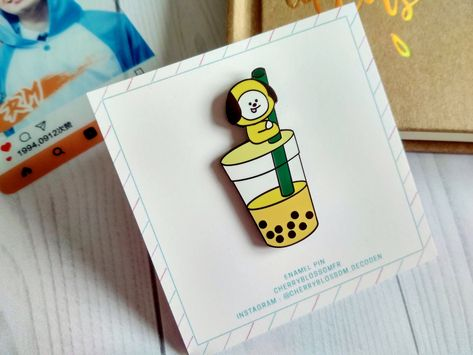 BTS enamel pin, BT21 pins, Bubble tea enamel pin, Chimmy BT21, BTS pins, Bangtan, bts hard enamel pin, BT21 enamel pin, Jimin, kpop #bt21 #bts #enamelpin #pins #pin #kpop #chimmy #bangtan #bangtanboys #jimin #parkjimin