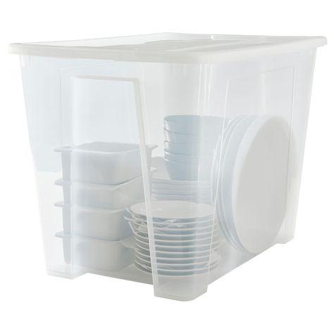 Samla Boite Avec Couvercle Transparent 57x39x42 Cm 65 L Ikea