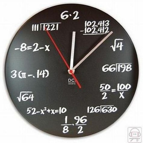 This could be a very cool math project...have kids create their own numbered clock!!!!!