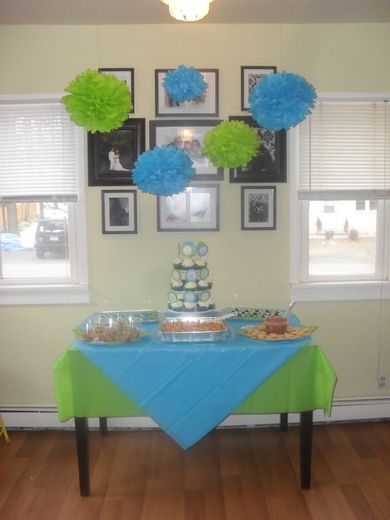 Wonderful Turquoise U0026 Lime Green Baby Shower Party Ideas | Blue Party, Blue Green And  Limes