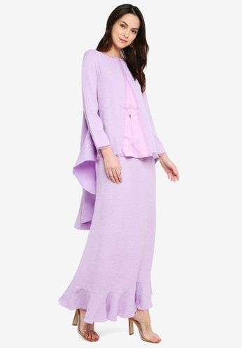 Laura Kurung Lilac from GHAANIA in Purple