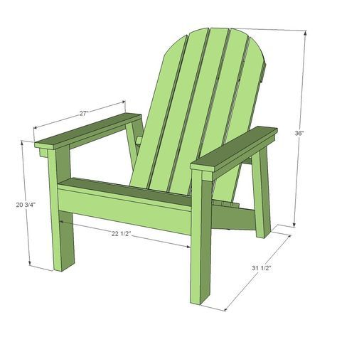 2x4 Adirondack Chair Plans Ana S Favorite With Images