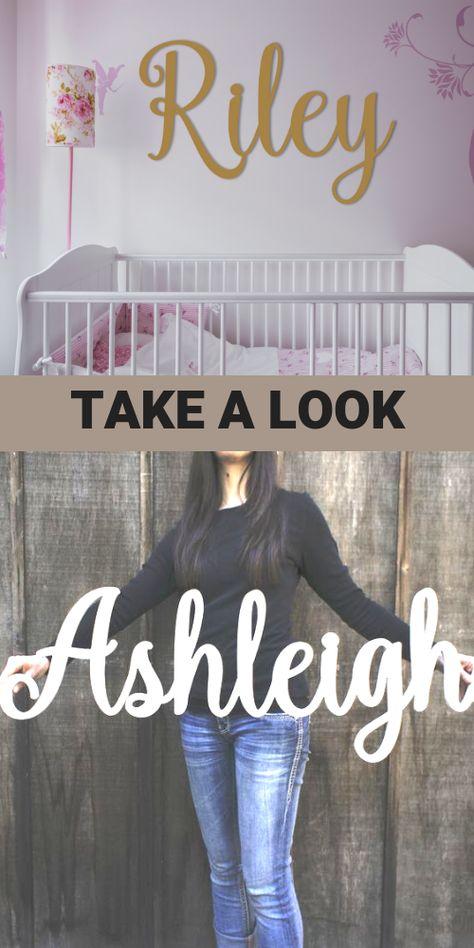 Personalized Name Sign, Ashleigh Kaiy Design
